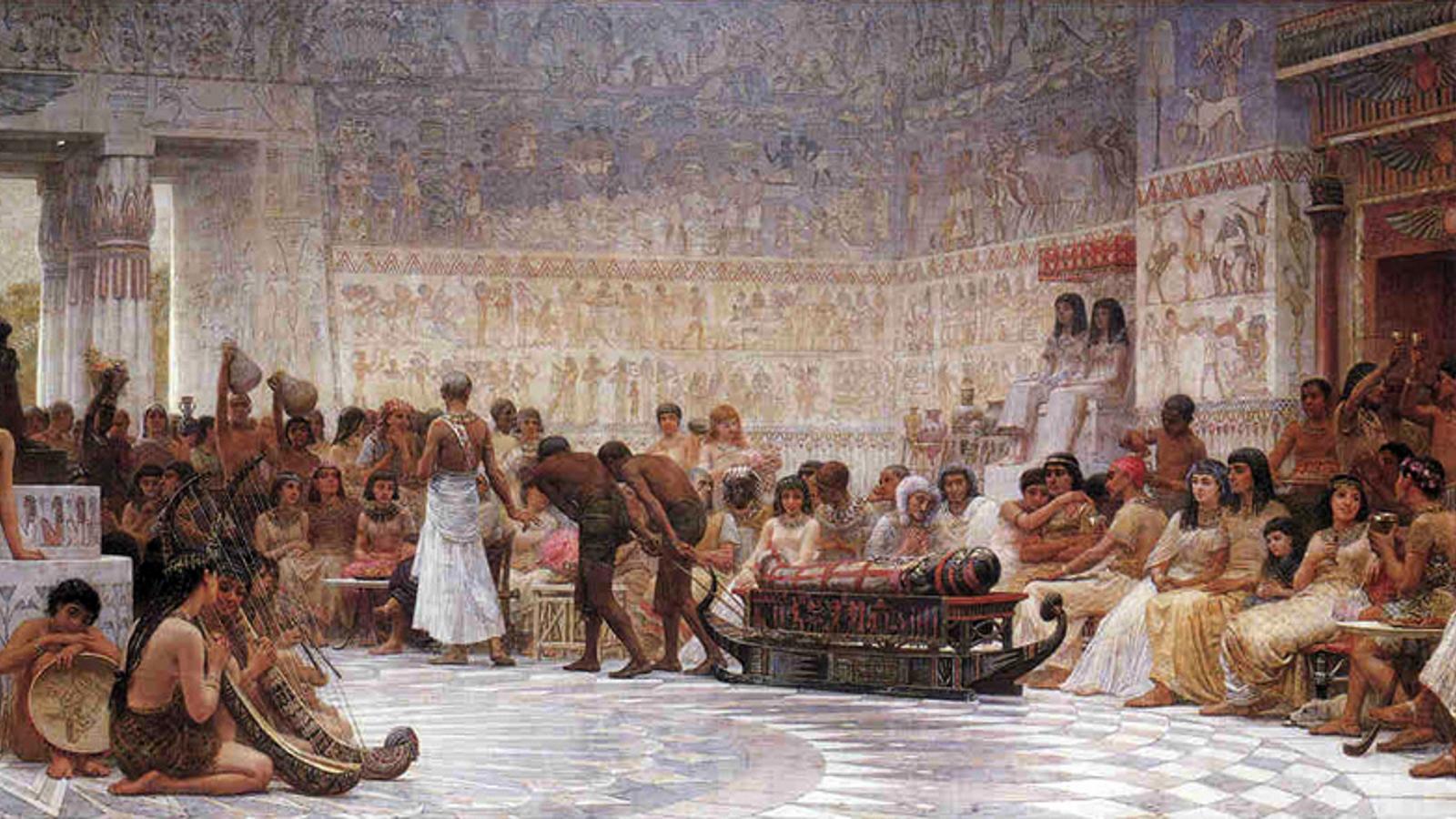 A Nílus áradásához kötött – így változó időpontban megtartott – ünneppel az ókori egyiptomiak egyrészt az új esztendőt köszöntötték, illetve egyik főistenük, Ozirisz újjászületésének, valamint a föld és az emberek megújhodásának hódoltak. A móka napokig tartott, és közben lakomáztak, ittak, énekeltek és táncoltak. (Wikipedia)