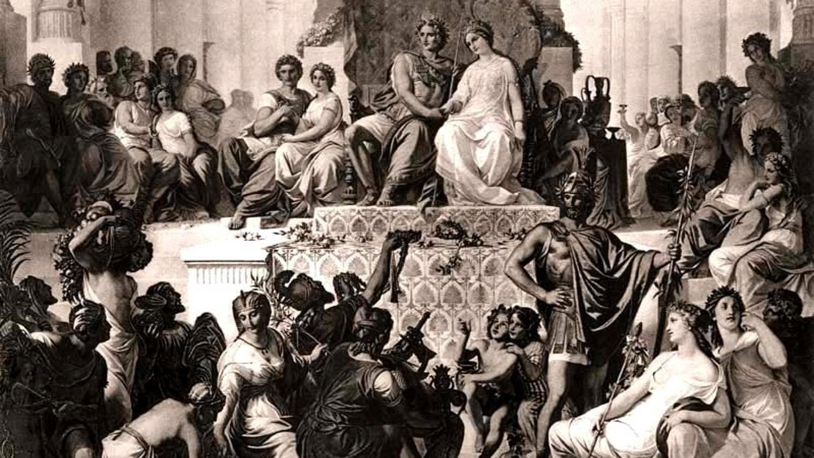 Az ókori hódító ezzel az aktussal szerette volna összekötni a görög és perzsa kultúrát. Ezért ő maga, valamint 80 vezető tisztje és mintegy ezer – egyes források szerint tízezer – katonája vett egyszerre nőül egy-egy perzsa lányt. A tömeges esküvő mintegy 10 ezer vendég részvételével állítólag öt napig tartott. (Wikipedia)