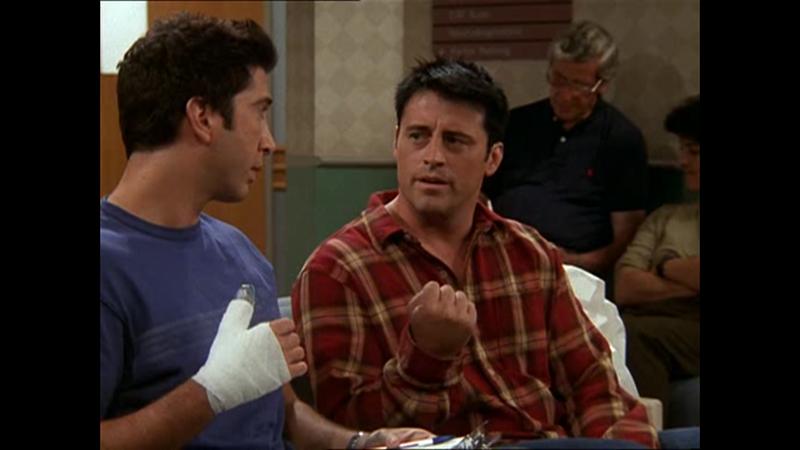 a, bútorcipelés közben <br /> b, összekapott Joey-val