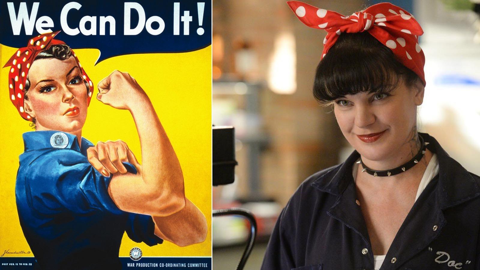 """A jól ismert """"erős nő""""-plakát stílusa Abby-n is jól mutat! (CBS)"""