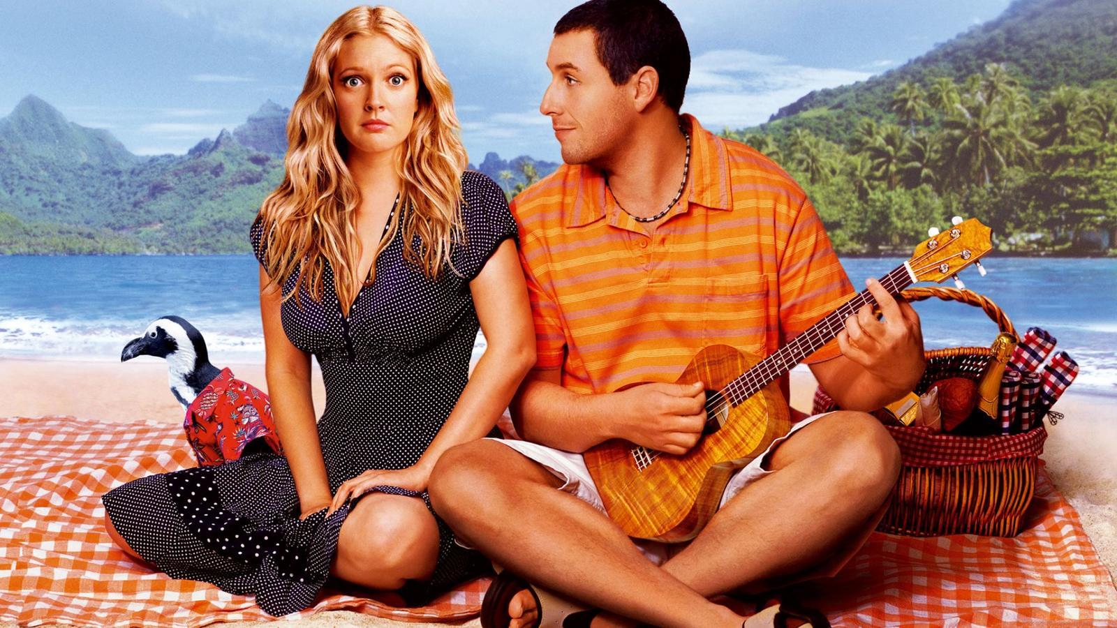 Hogy is hagyhatnánk ki a tökéletes első randit, ami aztán 50-szer megismétlődik? Drew Barrymore és Adam Sandler abszolút egymásnak lettek teremtve, a baj csak az, hogy Drew csak egy napig emlékszik szerelmére.  (Columbia Pictures Corporation)