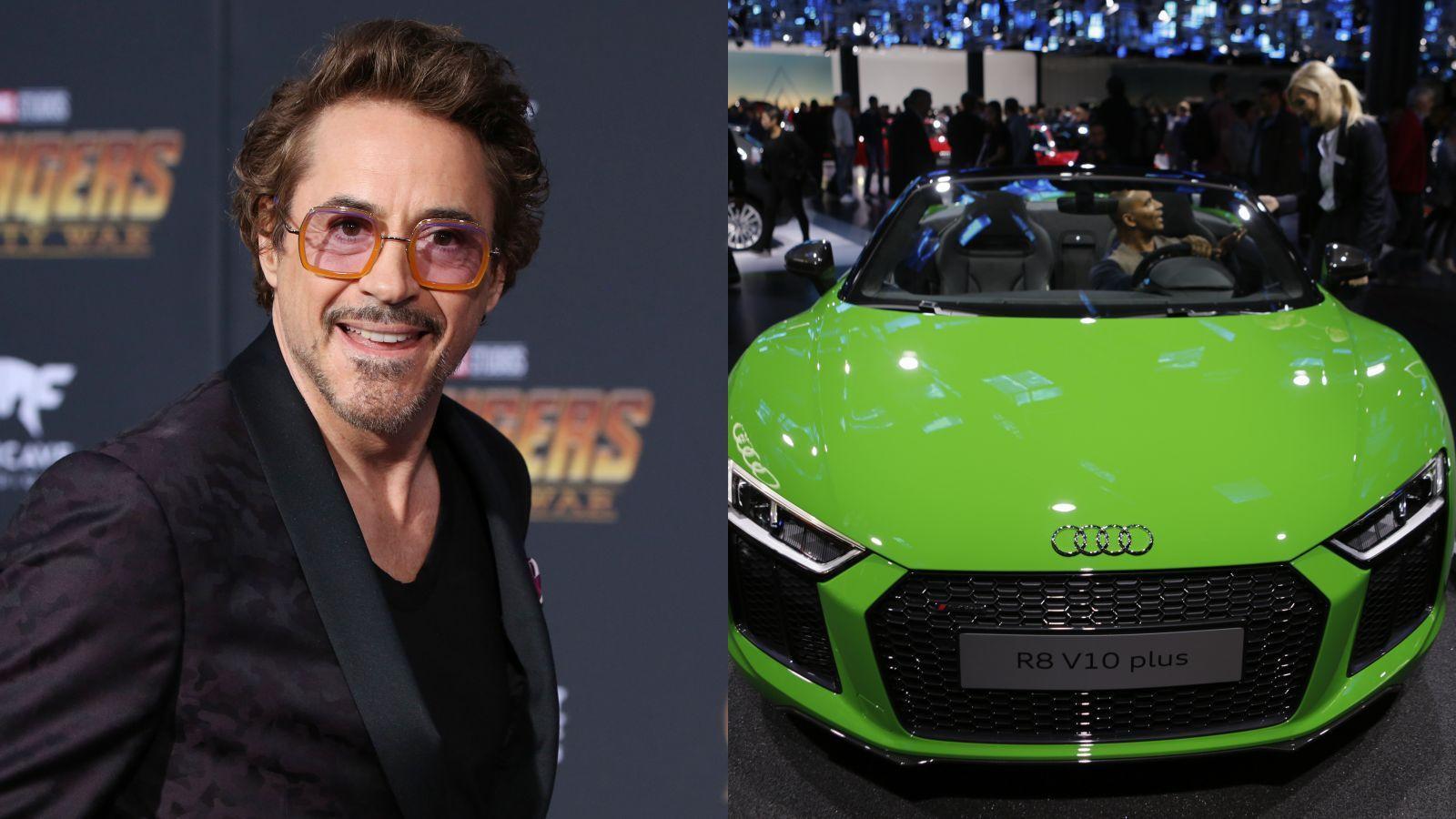 Robert Downey Jr.-nak elég meggyőző autógyűjteménye van, egyesek szerint az általa alakított Tony Starknál is irigylésre méltóbb. Az Audi a Marvel egyik partnere a Vasember 2008-as startja óta, és úgy tűnik, a színész megkedvelte a márkát. A cég egyébként nemrég adott ajándékba neki egy Audi R8 Spydert; a legújabb Pókember film, a Hazatérés premierjére is azzal ment. (Matt Baron/Shutterstock\ Michael Debets/Pacific Press via ZUMA)