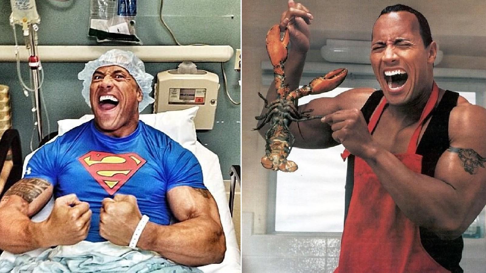 A tripla sérvműtétet csak átnevette, de az ollós tengeri fenavaddal neki is meggyűlt a baja. (instagram / @therock)