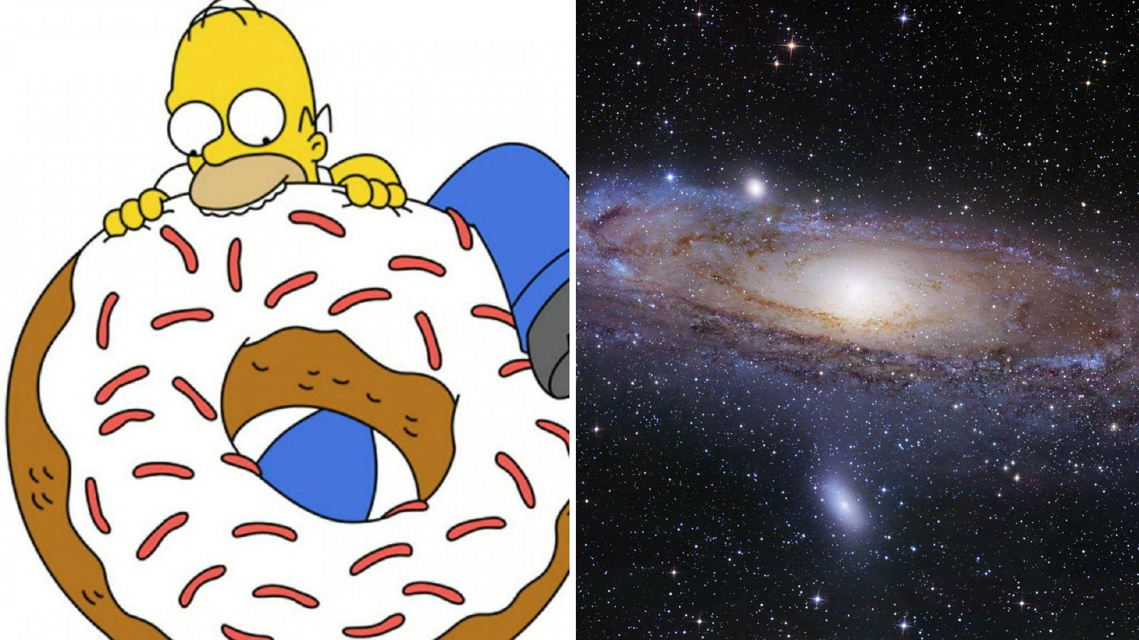"""Az egyik epizód vendégszereplője, Stephen Hawking megemlíti Homérnak, hogy """"A fánk alakú univerzumról szóló ötleted felcsigáz engem, lehet, hogy el kell lopnom."""" A NASA 13 évvel később jelentette be, hogy 99.6 %-ban biztosak abban, hogy az univerzum egyszerre kerek és lapos. (Fox Film Corporation/ Bloomberg)"""