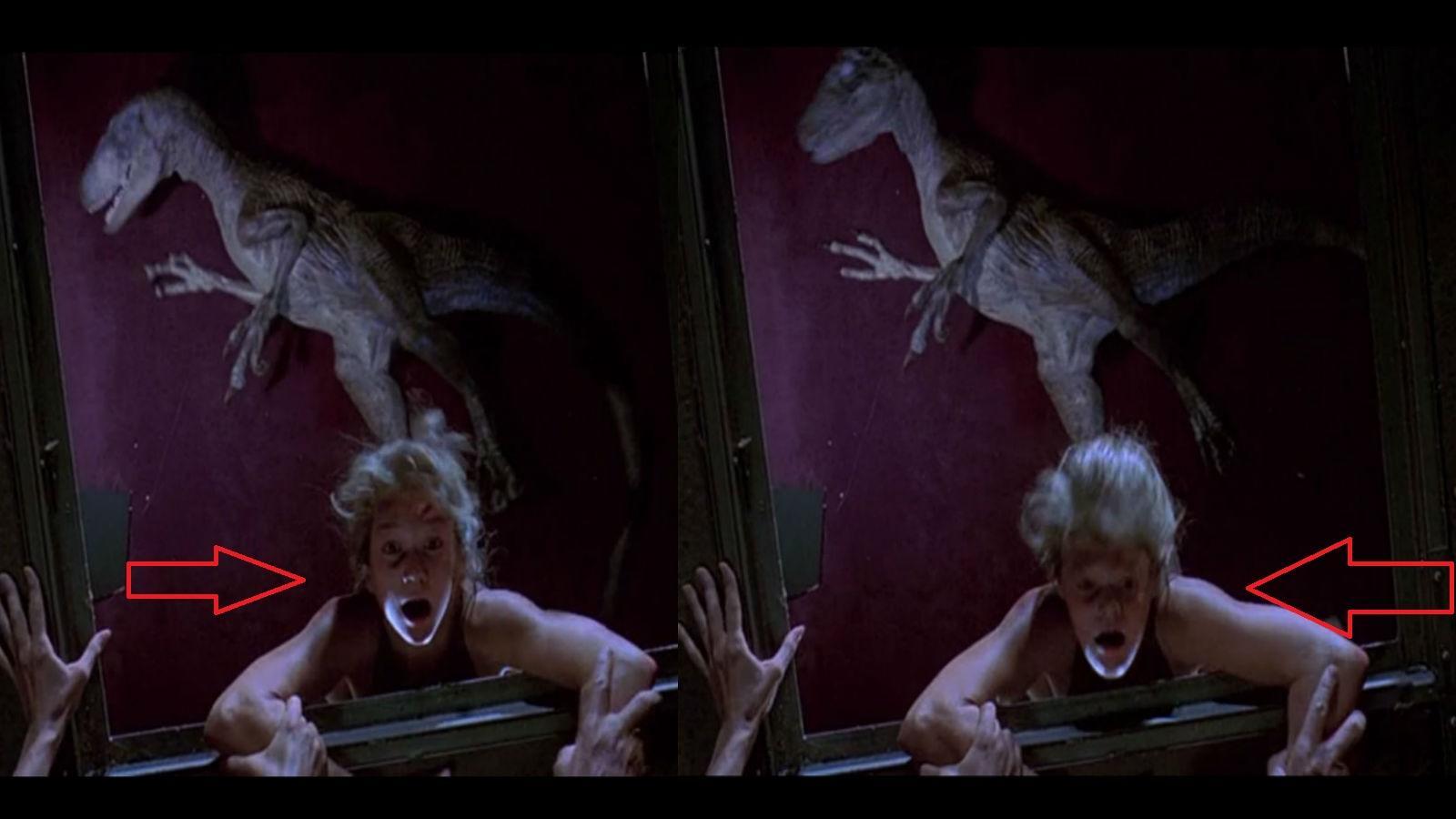 Abban a jelenetben, amikor Lex majdnem átesik a plafonon, a kamerába néz. Ahelyett, hogy váltottak volna a dublőrről, CGI-jal oldották meg az arccserét, de ezt könnyen kiszúrhatod a filmben. (Universal Pictures)