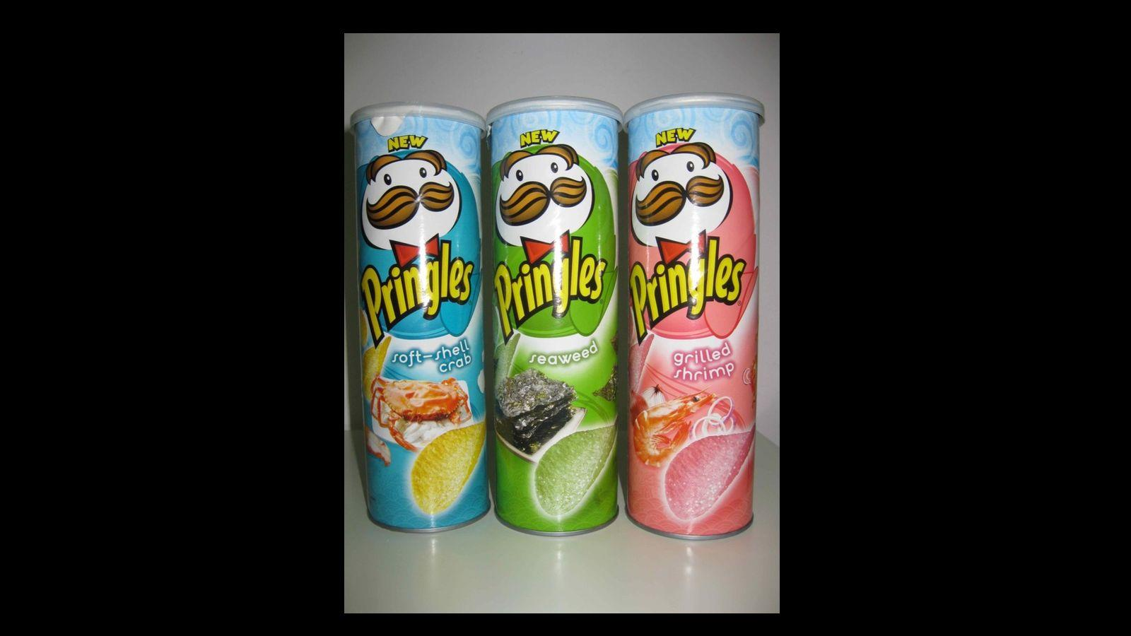 Rákos, grillezett garnélás és tengeri moszatos Pringles, Ázsia