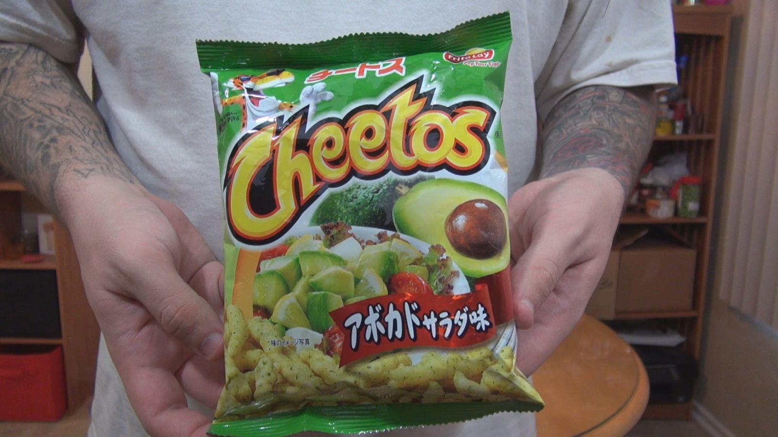 Avokádó salátás Cheetos, Japán