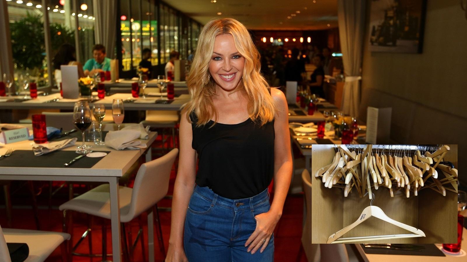 """Kylie Minogue imád öltözködni, mint minden nő, ezért lehet különösen borzasztó az ő fóbiájával élni: az ausztrál pacsirta ugyanis a vállfáktól retteg. """"Nem bírom a hangot, amit kiadnak, amikor beteszik őket a szekrénybe"""" - nyilatkozta. A ruhái éppen ezért kizárólag fiókokban illetve kiterítve hajlandó tárolni."""
