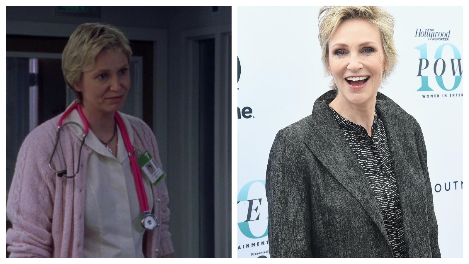 Jane Lynch, a nagyszerű komika az első évad kilencedik részében játszott nővérkét. Azóta rengeteg filmben szerepelt, a sorozatrajongóknak pedig a Glee - Sztárok leszünk-ből is ismerős lehet. (Warner/Getty Images)