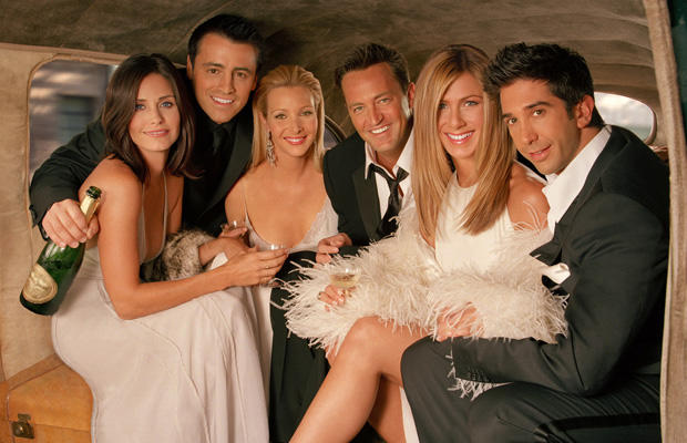 A hat jóbarát teljes neve: Chandler Muriel Bing, Rachel Karen Green, Ross Eustace Geller, Monica E. Geller, Joseph Francis Tribbiani Jr. és Phoebe Buffay