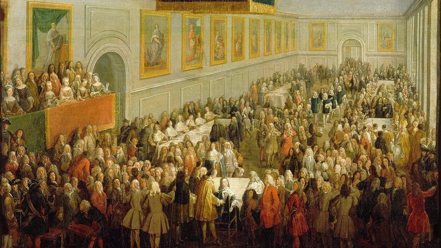 Sok királyi és fejedelmi udvarban tartottak hatalmas, féktelen és végeláthatatlan bulikat, ám ezek közül a legkeményebbek minden bizonnyal XIV. és XVI. Lajos uralkodása között, a hírhedt Versailles-i kastályban kerültek megrendezésre. Barokk túlzás, megalománia, csúcsra pörgetett piperkőcség és bujaság – elég megnézni Sofia Coppola Marie Antoinette-ről készített filmjét, hogy beleélhessük magunkat a végtelen udvari partik világába. (Wikipedia)