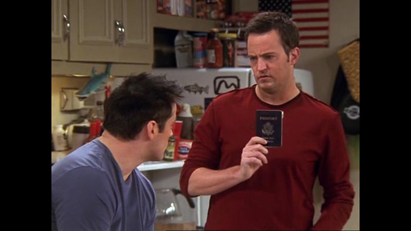 A helyes válasz: Chandler tette el
