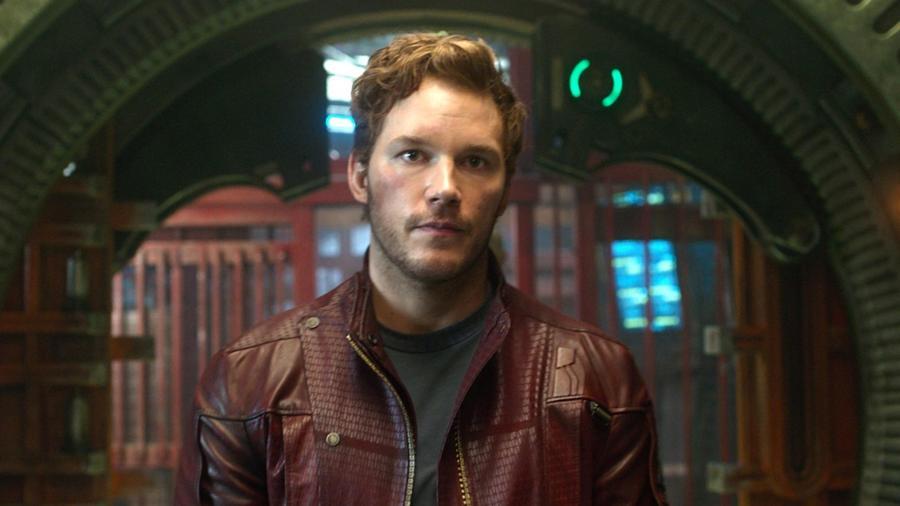 Chris Pratt ellopta a Galaxis őrzői mozikban viselt Star-Lord kosztümét. (Marvel Studios)