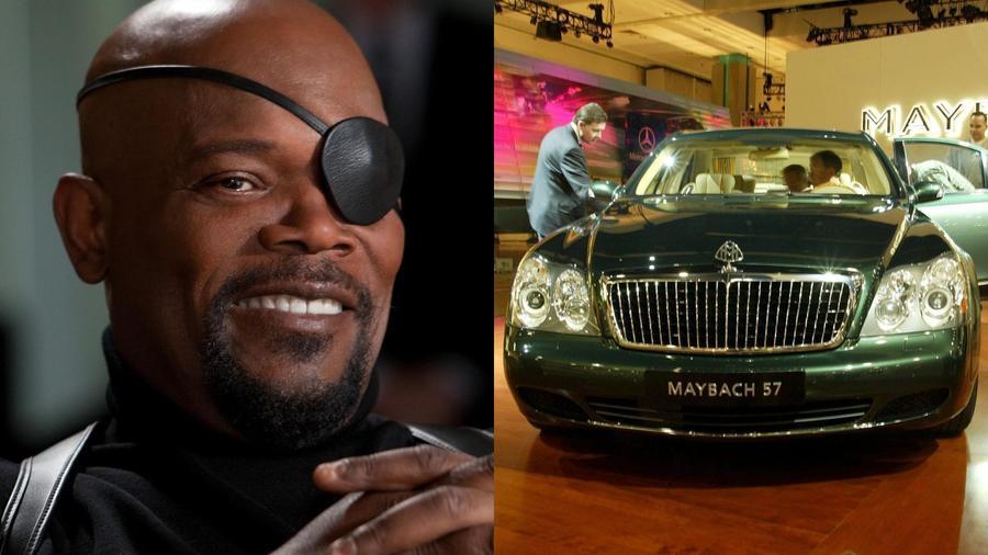 """Samuel L. Jackson rajong az ő Maybach 57-eséért. A Daimler-Benz autógyár által megvásárolt limuzinmárka e típusában eredetileg egy Mercedes-Benz M285-ös motor dobog; az 5,5 literes, V12-es """"ikerturbót"""" kizárólag a Maybach modellekhez fejlesztették. (Disney\ STEWART COOK/Shutterstock)"""