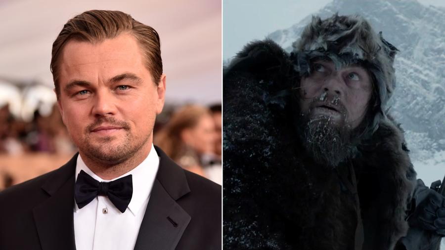 """Leo nagyon akarja azt az Oscart, így A visszatérőben mindent megtett azért, hogy hiteles legyen a """"vadonban"""". (Europress/Getty Images/20th Century Fox)"""