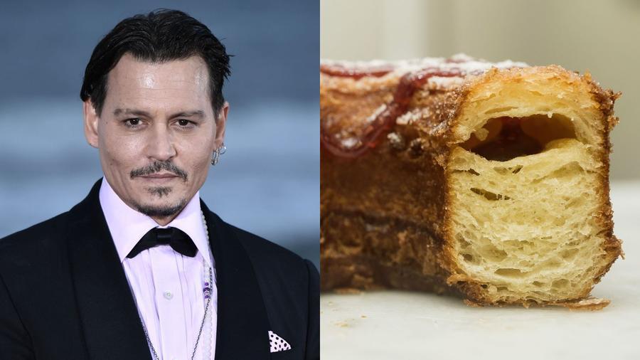 Mivel Hollywoodban ő Willy Wonka a Charlie és a csokigyárból, így kissé bohókás (vagy éppen teljesen el van borulva), őrült íz dukál hozzá, épp ezért hoztuk össze a cronuttal. Na, de mi az a cronut, fogós kérdés, ugye? Mielőtt persze bármi lenne, elmondjuk, a cronut a croissant és a fánk ötvözete, nem mellesleg pokolian finom! (Imaginechina/Shutterstock\ Ray Tang/Shutterstock)