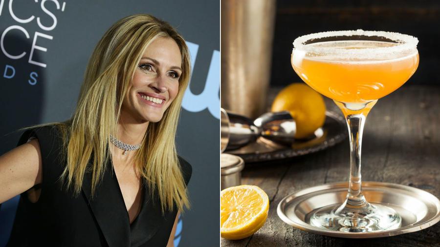 """A """"Micsoda nőknek"""" mindig emlékezetes szereplésre van szükségük az idegenek, de a barátok előtt is. Mi lehet hát fondorlatosabb egy ragyogó italnál? Igen, pont arról a varázslatról beszélünk, ami leginkább illik a varázslatos Julia Robertshez: egy vodka és egy remek francia Cointreau násza. (REX/Shutterstock)"""