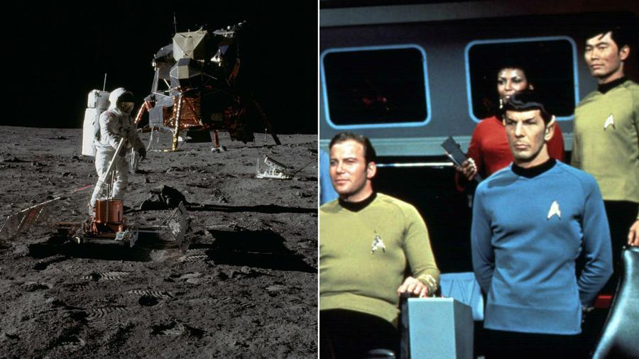 """A Star Trek alaposan odatette magát a témában: bizonyos technológiai vívmányokat, mint például az érintőképernyőt vagy a kagylótelefonokat már jó előre megjósolták. A legjobb:  az 1967-es """"Tomorrow Is Yesterday"""" részben egy szerdai Hold felé tartó akcióról volt szó, amelyet 1969-ben éltek át. Az igazi Apollo 11 pedig pontosan egy szerdai napon, 1969-ben startolt el...  (space.com/ NBC)"""