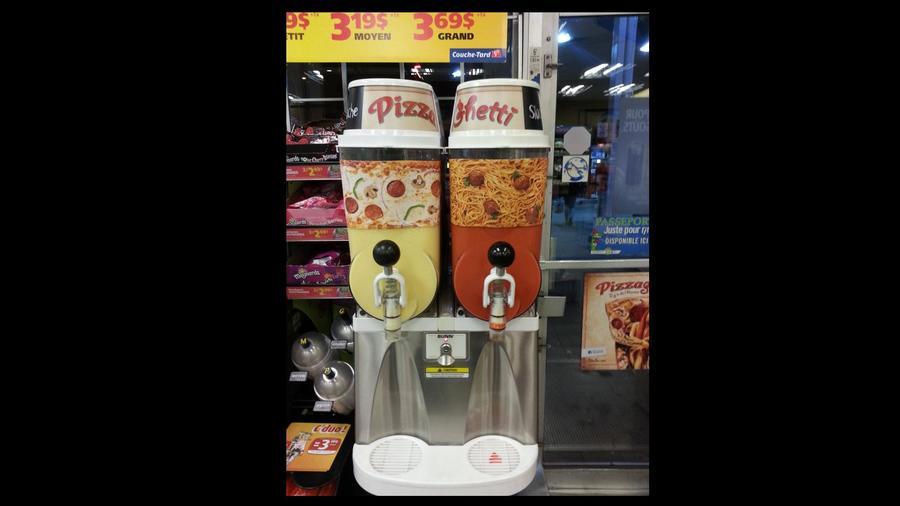 Pizza & spagetti üditő, Kanada